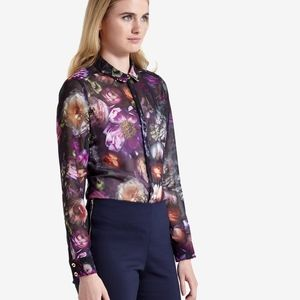 NWT TED BAKER LONDON MALINDA BLOUSE TEDS SIZE 5 AN